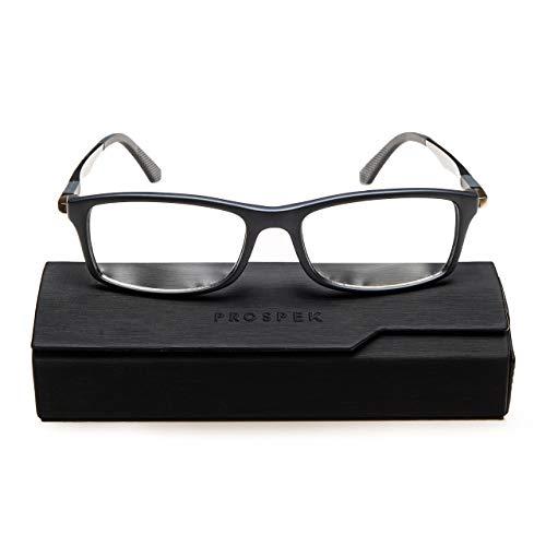 Prospek - Hochwertige Anti Blaulicht Computer Brillen - Anti-Blendschutz, Anti-Reflektierend, Anti- Ermüdung, Schutz vor UV und Computer/TV (Grau   Große, 0.00)