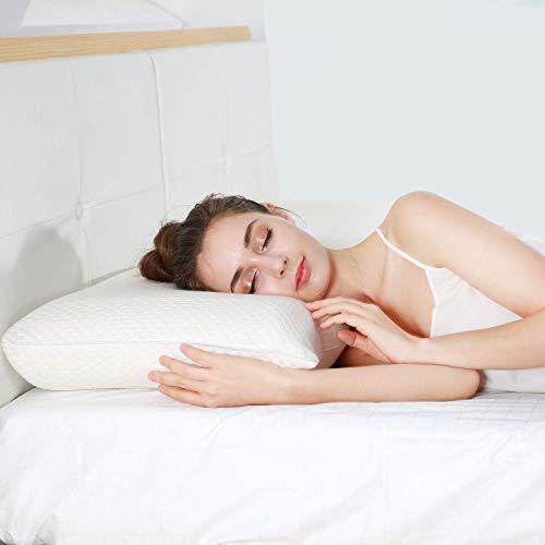 UTTU Höhenverstellbar Kopfkissen, Memory Foam Schlafkissen, orthopädisches Nackenstützkissen gegen Nackenschmerzen, Atmungsaktiv Kissen, Allergien geeignet