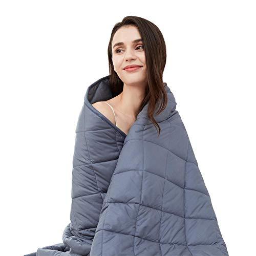 jaymag Gewichtsdecke Kinder Therapiedecke 135x200 6kg Schwere Decke Entspannungsdecke für Angst und Schlafstörungen Beschwerte Decke Kuscheldecke, 100% Baumwolle, Blau Weighted Blanket