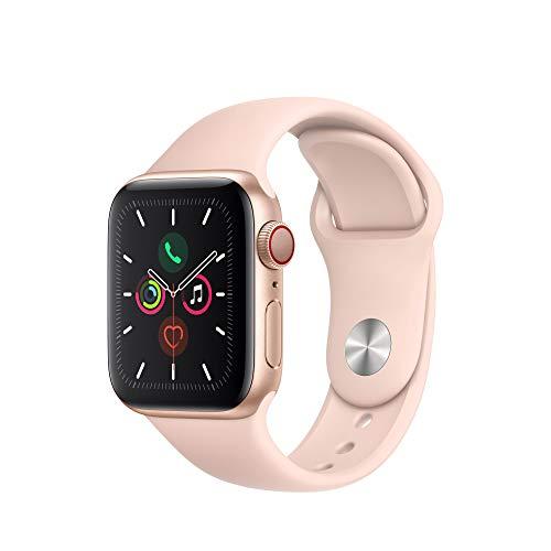 Apple Watch Series 5 (GPS+Cellular, 40 mm) Aluminiumgehäuse Gold - Sportarmband Sandrosa
