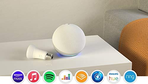 Der neue Echo (4. Generation), Weiß + Philips Hue White LED-Lampe