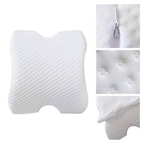 IsEasy Entlasten Abnehmbare Nickerchen-Kissen,Memory Foam Kissen Schlaftunnel Bürokurven Langsamer Rückprall Kopfstütze (Weiß, 1)
