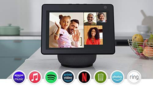 Der neue Echo Show 10 (3. Generation) | Hochauflösendes Smart Display mit Bewegungsfunktion und Alexa, Anthrazit