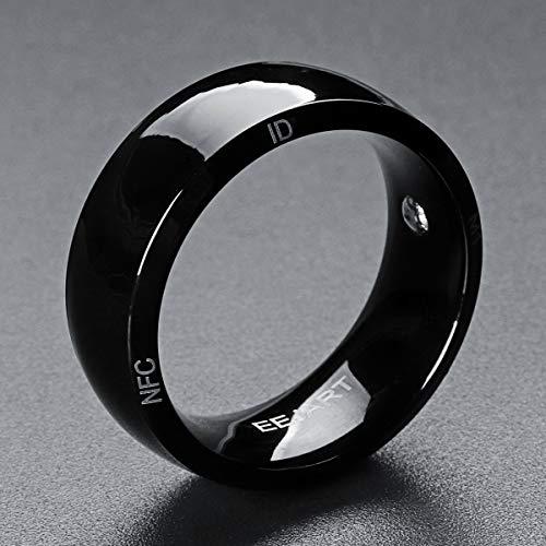 LZW NFC Smart Tragbares Gerät Smart Ring Herren-Smart-Ring Motivation Ring Fitness Ring Schlaf-Tracker Ring Echo Ring,14