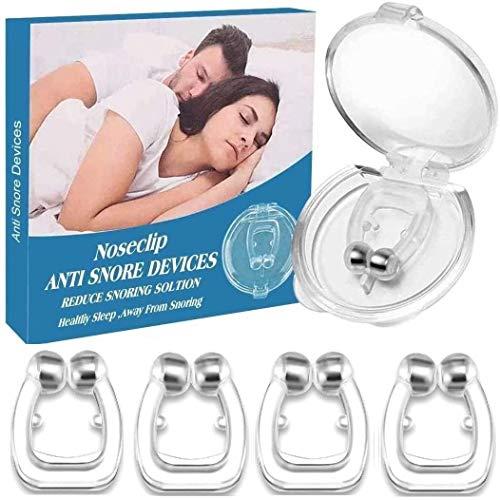 Schnarchstopper, Anti Schnarch Nasenclip Schnarchen Stopper Nasenklammer gegen Schnarchen für komfortablen Schlaf und Bessere Atmung, 4 Stück
