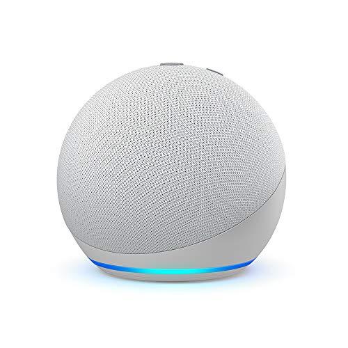 Der neue Echo Dot (4. Generation)   Smarter Lautsprecher mit Alexa   Weiß