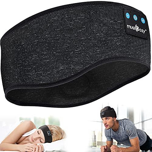 Schlaf Kopfhörer,Schlafkopfhörer 5.0 Bluetooth Stirnband Kopfhörer Personalisiert Sleepphones mit Ultradünnen HD Stereo Lautsprecher für Männer/Frauen,Sport, Schlafen,Laufen, Yoga,Seitenschläfer
