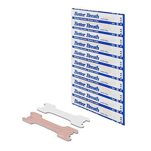 100x Schnarchstopper Nasenpflaster Ideal gegen Schnarchen, bessere Atmung beim Schlafen, Sport, laufende Nase - Premium-Nasenstreifen gegen Schnarchen, hautfarben, Größe: 66x19mm