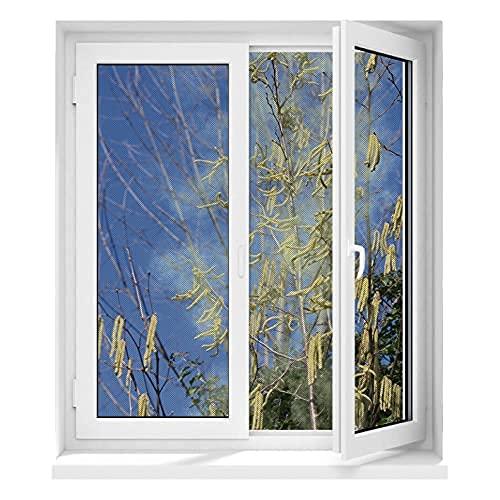 Hoberg Fenster-Pollenschutz mit innovativer Magnetbefestigung  Fliegennetz mit Pollenschutz bis zu 150 x 130 cm individuell zuschneidbar, kein Bohren oder Schrauben