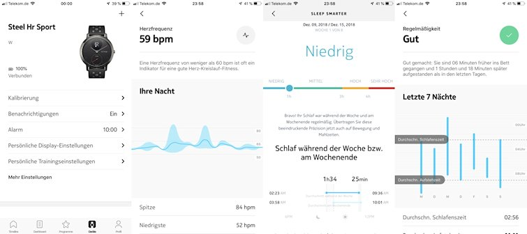 withings app schlaftracker health mate