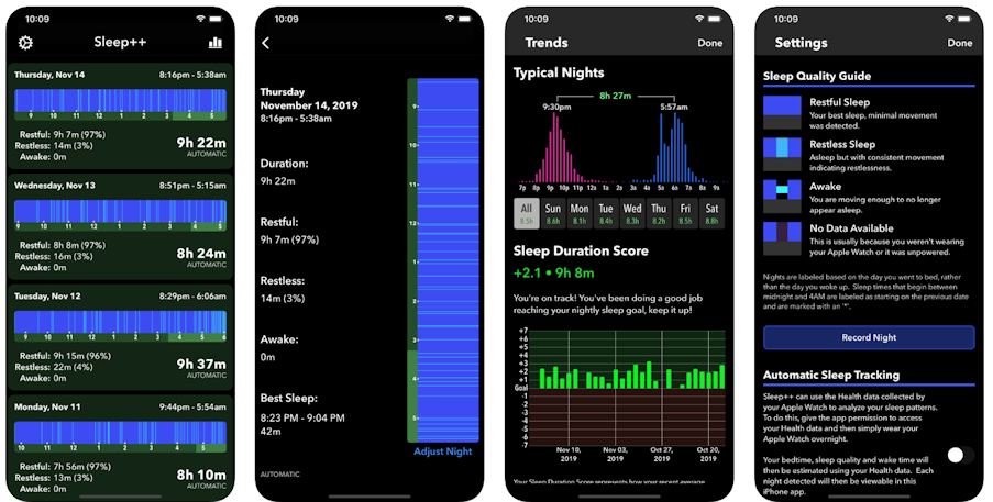 apple watch schlaftracking sleep++