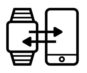 austausch smartwatch und smartphone
